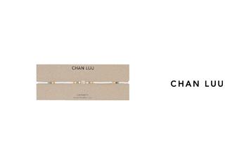 CHAN LUU/チャンルー セミプレシャスストーン レザーラップネックレス NG-13283(MOONSTONE) チャンルーオリジナル巾着袋付き!