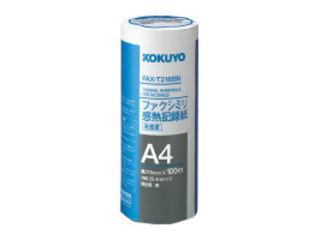 ファクシミリ感熱記録紙216mm幅 A4 100m 芯約25mm 倉庫 美品 FAX-T216B KOKUYO コクヨ