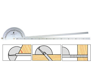 SHINWA/シンワ測定 プロトラクター No.1000 シルバー φ320竿目盛1m2本竿 62952