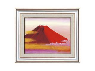 丹羽勇 油絵額 「赤富士」