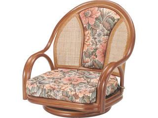 【代引不可商品】籐回転座椅子ロータイプ   H28S521B