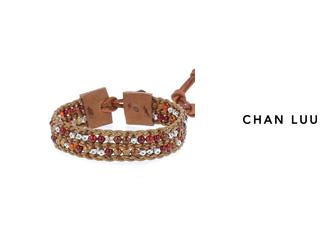 CHAN LUU/チャンルー ストーンビーズミックス 1連ブレスレット BSM-1675(RED MIX THRUSH) チャンルーオリジナル巾着袋付き!