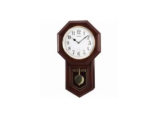 RHYTHM/リズム時計 4MJA03RH06 【ベングラーR】 クオーツ柱時計 【報時音4タイプ選択式/飾り振子付】 【RPS160324】