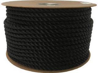yutaka/ユタカメイク ポリエチレンロープドラム巻 12mm×100m ブラック PRE-64