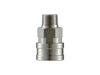 NAGAHORI/長堀工業 NAC/ナック クイックカップリング TL型 ステンレス製 メネジ取付用 CTL12SM3