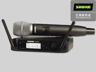 【nightsale】 SHURE/シュアー GLXD24/BETA 87A ボーカル用ワイヤレスマイクシステム 【正規品】 【ハンドヘルド型ワイヤレスシステム/BETA 87A マイク・ヘッド】【RPS160228】