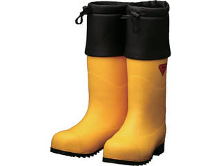 SHIBATA/シバタ工業 防寒安全長靴 セーフティベアー#1001白熊(イエロー) 22.0cm AC091-22.0