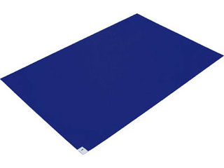 TRUSCO/トラスコ中山 【代引不可】粘着クリーンマット 600X1200MM ブルー (10枚入) CM6012-10B
