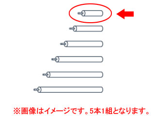 TAOC MSR-P510(ブラックメタリック) L:100mm L type用支柱 5本1組