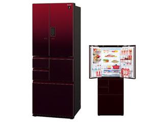 【標準配送設置無料!】 SHARP/シャープ 【まごころ配送】SJ-GX55E-R プラズマクラスター冷蔵庫 COCORO KITCHEN対応【551L】(グラデーションレッド)