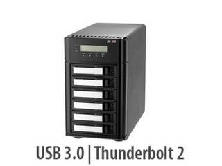 ARECA ThunderBolt3 HDD/SSD用RAIDユニットSFF-8644(レーン数2) x1 6台 ARC-8050T3-6