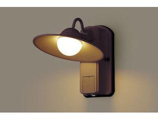 Panasonic/パナソニック LGWC80245LE1 LEDポーチライト ダークブラウンメタリック【電球色】【明るさセンサ付】【壁直付型】