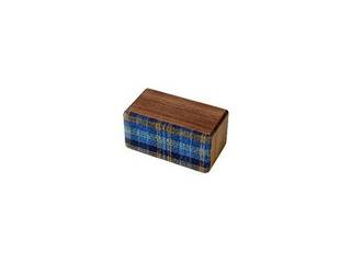ヨシモク SOUNDFLY(サウンドフライ)Mini(ミニ) Bluetooth 木製ワイヤレススピーカー SF-M WB ウォールナット×青チェック 徳島県