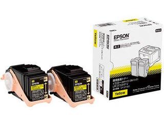 EPSON/エプソン LP-S7160シリーズ用 環境推進トナー/イエロー/Mサイズ2本パック(印刷可能ページ:約5300ページ) LPC3T33YPV