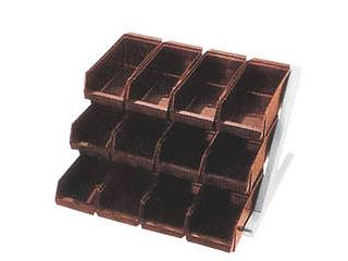 DXオーガナイザー 3段4列 ブラウン