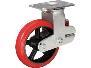 INOAC/イノアック車輪 バネ付き牽引車輪(ウレタン車輪タイプ 自在金具付 Φ200) KTU200WJRS