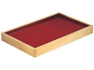 MIYABI 売買 雅漆工芸 日本限定 ひのき 角型 520 盛盆 520×330×H55 深朱浅黒
