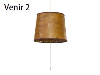 ELUX/エルックス LC10770-BR ルチェルカ 3灯ペンダント ベニーツー (ダークブラウン) ※電球別売(ナツメ球のみ付属)