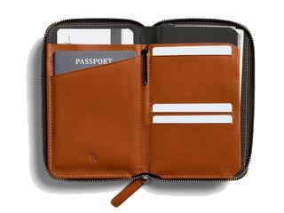 Bellroy/ベルロイ 本革■RFIDスキミングガード/パスポートケースウォレット【キャラメル】■トラベルフォリオ(BRWTFA)