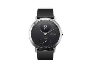 ・通常の腕時計とデザインが非常に近い Withings ウィジングズ ウェアラブル端末(ウォッチタイプ)Steel HR 40mm HWA03-40BLACK-ALL-JP Black ・「Nokia」から「Withings」にブランドチェンジを行った一本 ・1度の充電で最大25日間