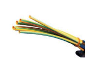 Panduit/パンドウイットコーポレーション 熱収縮チューブ 標準タイプ イエローグリーン 1箱(袋)=25本 HSTT12-48-Q45
