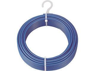 TRUSCO/トラスコ中山 メッキ付ワイヤロープ PVC被覆タイプ Φ4(6)mmX100m CWP-4S100