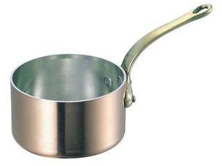 WADASUKE/和田助製作所 SW 銅 極厚 深型 片手鍋 蓋無(真鍮柄)24cm