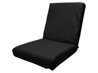 低反発レザー座椅子 ブラック DS3L BK