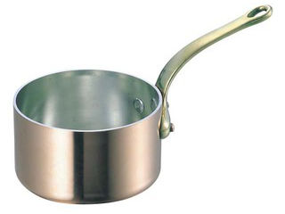 WADASUKE/和田助製作所 SW 銅 極厚 深型 片手鍋 蓋無(真鍮柄)27cm