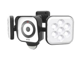 LEDセンサーライト防犯カメラ8W×2灯  C-AC8160