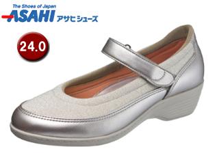 ASAHI/アサヒシューズ KS23343-1 快歩主義 L119AC レディースコンフォートシューズ 【24.0cm・3E】 (シルバー)