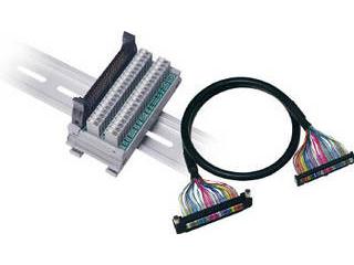 WAGO/ワゴ 三菱PLC対応コネクタ端子台 横型 ハーネスセット SET-MC2-FM40AS-E1M-PK