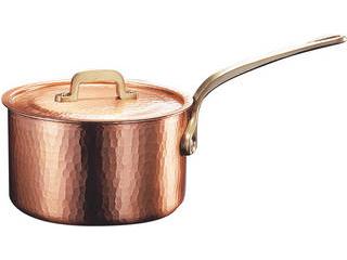 低価格 新鎚器銅器 深型片手鍋 18cm SN-1, 名前シールのねむっこ 3efa037b