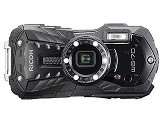 【お得なセットもあります】 RICOH/リコー RICOH WG-70(ブラック) 防水コンパクトデジタルカメラ フルHD動画/光学5倍ズーム/デジタル顕微鏡モード搭載/CALSモード搭載
