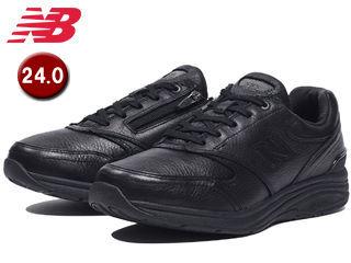 NewBalance/ニューバランス MW585-BK-6E ウォーキングシューズ メンズ 天然皮革 【24.0cm】【6E(超ワイド)】 (ブラック)