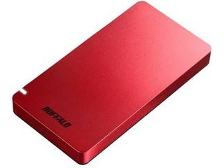 BUFFALO バッファロー USB3.1(Gen2) ポータブルSSD 480GB SSD-PGM480U3-R レッド
