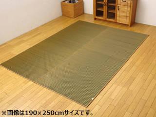 日本製 IGUSAラグ<リブロ> グリーン リブロ190×250GN