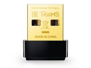 超小型でコンパクト 持ち運びに優れているので 快適なモバイルライフのお供に TP-Link ティーピーリンク AC600 デュアルバンド対応 Nano T2U ARCHER ついに再販開始 新商品 無線LAN子機 ナノ