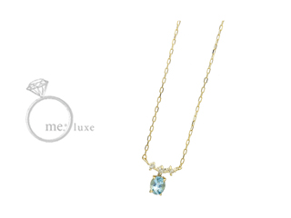 me.luxe/エムイーリュークス バースデーストーン 【3月】ネックレス K10 お誕生日 誕生石 バースデー ネックレス ペンダント ジュエリー ジュエリー プレゼント ギフト 包装 記念日