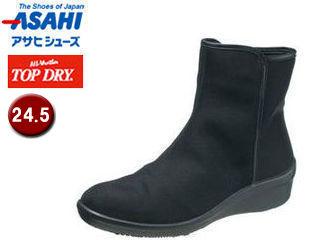 ASAHI/アサヒシューズ AF39291 TDY39-29 トップドライ レイン ブーツ レディース 【24.5】 (ブラック)