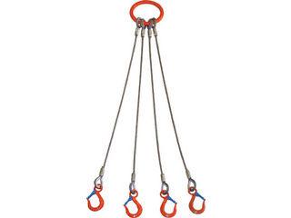 TAIYO/大洋製器工業 4本吊 ワイヤスリング 1.6t用×1.5m 4WRS 1.6TX1.5