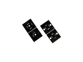 Panduit/パンドウイットコーポレーション マウントベース ゴム系粘着テープ付き 白 (1000個入) ABM1M-A-M