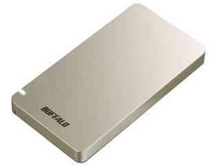 BUFFALO バッファロー USB3.1(Gen2) ポータブルSSD 480GB SSD-PGM480U3-G ゴールド