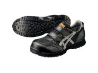 asics/アシックス 静電気帯電防止靴 ウィンジョブE30S 黒×グレー 23.5cm FIE30S.907323.5
