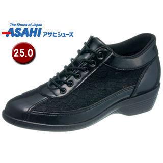 ASAHI/アサヒシューズ KS23298-AA 快歩主義 L114AC アクティブシリーズ レディースシューズ 【25.0cm・3E】 (ブラックチュール)