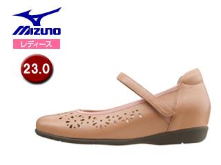 mizuno/ミズノ B1GH1666-64 ウォーキングシューズ セレクト500 レディース 【23.0cm】 (ピンクベージュ)
