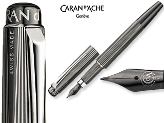 CARAN dACHE/カランダッシュ 【RNX.316】PVDブラック 万年筆 B 4590-090