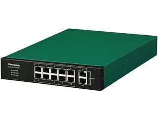 パナソニックLSネットワークス 全ポートギガ 12ポート PoE給電スイッチングハブ GA-AS10TPoE+ PN25108
