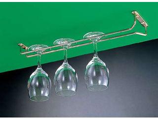 新色追加して再販 配送員設置送料無料 ワイングラスハンガー 真鍮 10インチ グラスハンガー