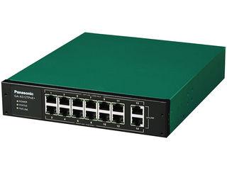 パナソニックLSネットワークス PoE給電スイッチングハブ GA-AS12TPoE+ PN25128